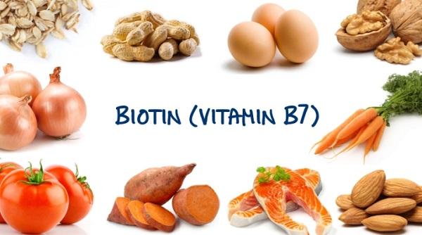 Biotin vốn dĩ là vitamin B7 có chứa rất nhiều trong các loại thực phẩm hàng ngày